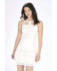 Parker - White Nerissa Combo Dress - Lyst