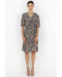 Isabel Marant Brodie Spring Flower Print Dress Black
