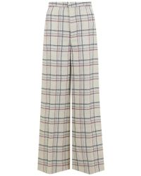 Isabel Marant Natural Trevi Check Pants Beige