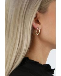 Jennifer Fisher - Metallic Curved Smooth Earrings Yellow Gold - Lyst