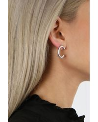 Jennifer Fisher - White Curved Smooth Earrings Silver - Lyst