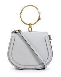 Chloé Gray Nile Medium Bag Airy Grey