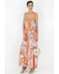 Emilio Pucci Pink Nastri Print Embroidered Dress Rose