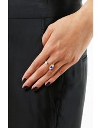Delfina Delettrez - Metallic Eye Piercing Ring Gold/blue - Lyst