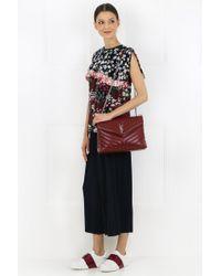 Saint Laurent - Multicolor Loulou Medium Chain Bag Bordeaux - Lyst