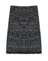 Balenciaga   A-line Tweed Skirt Black   Lyst