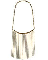Chloé | Metallic Delfine Chain Necklace Gold | Lyst