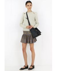Isabel Marant Multicolor Etoile Jessie Check Mini Skirt Ochre