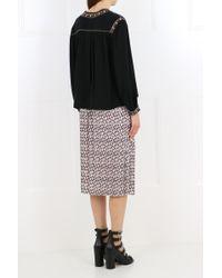 Isabel Marant Étoile Cabella Embroidered Blouse Black