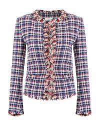 Isabel Marant Etoile Nawell Check Jacket Blue
