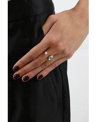 Delfina Delettrez - Metallic Eye Piercing Ring Gold/turquoise - Lyst