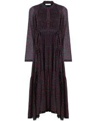 Chloé Cherry Print Maxi Dress Crimson/black