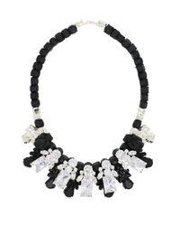 EK Thongprasert - Silicone Five Jewel & Metal Neckpiece Black/white Crystals - Lyst