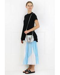 Chloé Gray Drew Bijou Mini Bag Airy Grey/silver