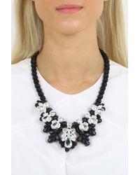 EK Thongprasert - Silicone Seven Jewel Neckpiece Black/white Crystals - Lyst