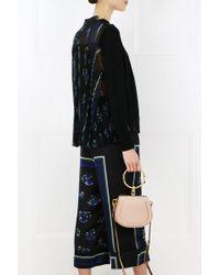 Sacai - Flower Print Wide Leg Pants Black - Lyst