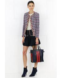 Isabel Marant Blue Etoile Jessie Check Mini Skirt Midnight