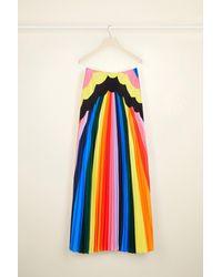 Patou サイケデリック プリーツ マキシスカート Multicolor