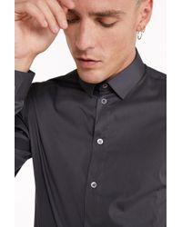 Camicia in popeline di cotone stretch di Patrizia Pepe in Gray da Uomo