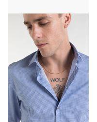 Camicia in cotone stretch di Patrizia Pepe in Blue da Uomo