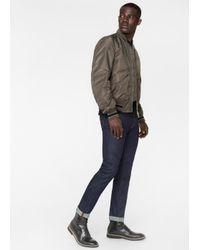 Paul Smith - Gray Men's Slate Grey Bomber Jacket for Men - Lyst