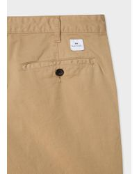 Paul Smith Natural Camel Garment-dyed Stretch Pima-cotton Shorts for men