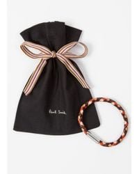Paul Smith - Men's Brown And Orange Leather Plaited Bracelet - Lyst