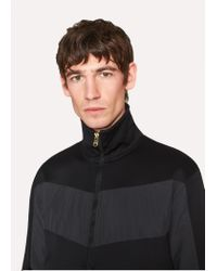 Paul Smith Black Panelled Track Top for men