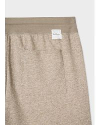 Paul Smith Natural Beige Marl Jersey Cotton Shorts for men