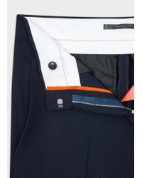 Paul Smith Blue Women's Navy Wool-viscose Parallel Leg Trousers