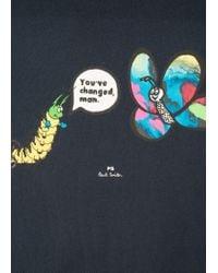 Paul Smith - Blue Dark Navy 'you've Changed, Man' Print Organic-cotton T-shirt for Men - Lyst
