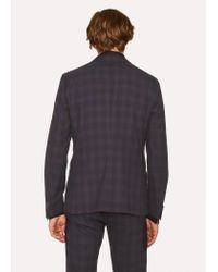 Paul Smith - Tailored-fit Purple And Black Jacquard Check Suit for Men - Lyst