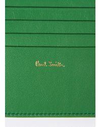 Paul Smith No.9 - Men's Green Leather Billfold Wallet for men