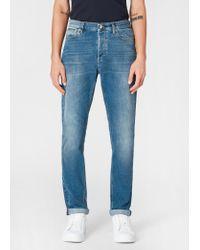 Paul Smith Blue Slim-fit Mid-wash Denim Jeans for men