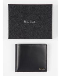 Portefeuille Avec Compartiment À Pièces En Cuir Noir Intérieur Imprimé 'Mini' Paul Smith pour homme en coloris Black