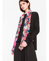 Paul Smith Women's Bright Pink 'photo Floral' Print Scarf