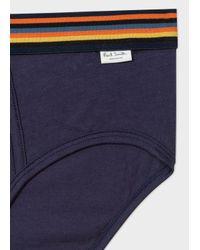 Paul Smith - Blue Men's Navy Briefs With 'artist Stripe' Waistband for Men - Lyst