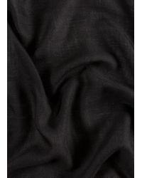 Écharpe Noire Broderie Lion En Laine Paul Smith pour homme en coloris Black