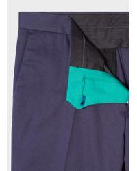Pantalon Chino Bleu Marine En Coton Stretch Coupe Slim Paul Smith pour homme en coloris Blue