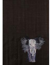 Écharpe Homme Noire Broderie Éléphant En Laine Paul Smith pour homme en coloris Black