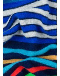 Écharpe Homme Bleu Marine À Rayures Multicolores En Laine Paul Smith pour homme en coloris Blue