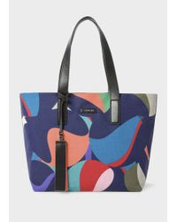 Paul Smith | Multicolor Women's 'marble' Print Canvas Tote Bag | Lyst