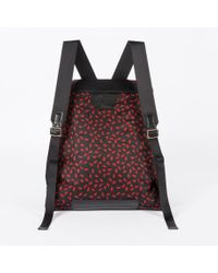 Paul Smith Men's Black And Red 'ants' Print Backpack for men