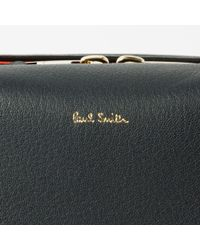 Paul Smith - Men's Brown And Navy Lamb Leather Business Folio for Men - Lyst