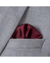 Paul Smith - Multicolor Men's Burgundy Concentric Square Pattern Silk Pocket Square for Men - Lyst