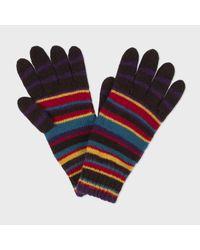 Paul Smith | Multicolor Men's Signature Stripe Wool-blend Gloves for Men | Lyst