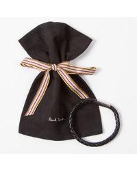 Paul Smith - Men's Black Leather Plaited Bracelet for Men - Lyst