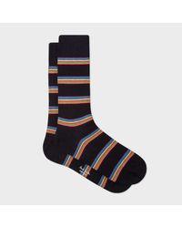 Paul Smith | Men's Black Multi-stripe Block Socks for Men | Lyst