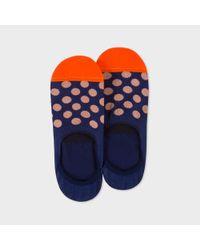 Paul Smith   Blue Men's Navy Polka Dot Loafer Socks for Men   Lyst