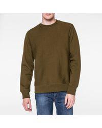 Paul Smith | Natural Men's Khaki Organic Loopback-cotton Sweatshirt for Men | Lyst